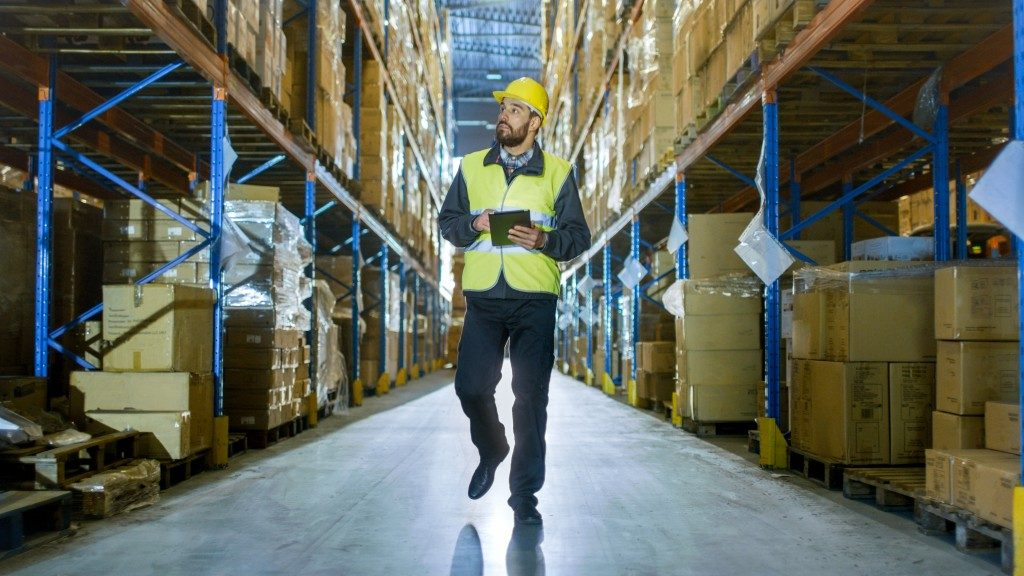 a man working at a warehouse